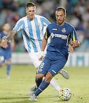 Getafe's Medhi Lacen (r) and Malaga's Ricardo Horta during La Liga match.September 18,2015. (ALTERPHOTOS/Acero)