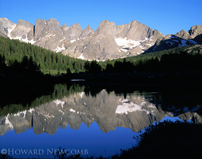 Circ of the Towers reflects the Popio Agie River, Wind River Range, Wyoming