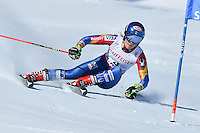 February 16, 2017: Mikaela SHIFFRIN (USA) competing in the women's giant slalom event at the FIS Alpine World Ski Championships at St Moritz, Switzerland. Photo Sydney Low