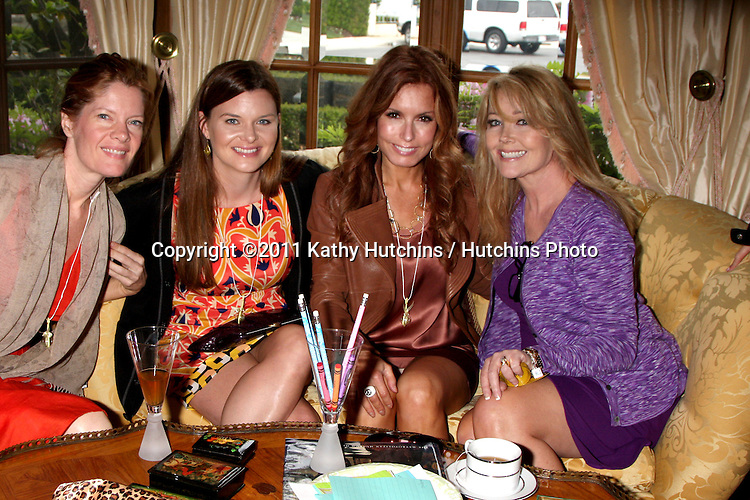 LOS ANGELES - APR 2:  Michelle Staford, Heather Scott, Tracey Bregman, Melody Thomas Scott at the Baby Shower for Jennifer Scott at Ed & Melody Thomas Scott's Home on April 2, 2011 in Beverly Hills, CA