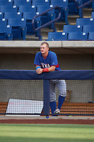 AZL Rangers designated hitter Josh Jung (18) during an Arizona League game against the AZL Brewers Blue on July 11, 2019 at American Family Fields of Phoenix in Phoenix, Arizona. The AZL Rangers defeated the AZL Brewers Blue 5-2. (Zachary Lucy/Four Seam Images)