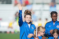 Kansas City, MO - Sunday September 11, 2016: Caroline Kastor prior to a regular season National Women's Soccer League (NWSL) match between FC Kansas City and the Chicago Red Stars at Swope Soccer Village.