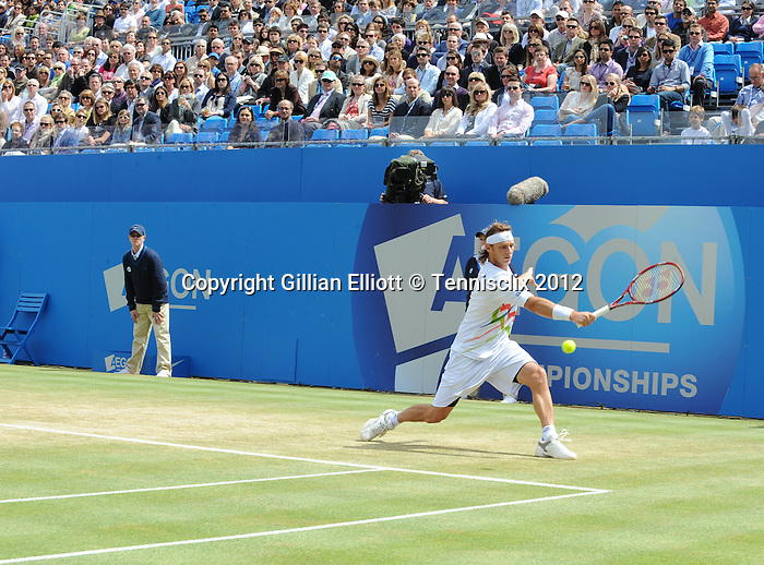 David Nalbandian (ARG) defaults by bad behanvior at finals at Queens