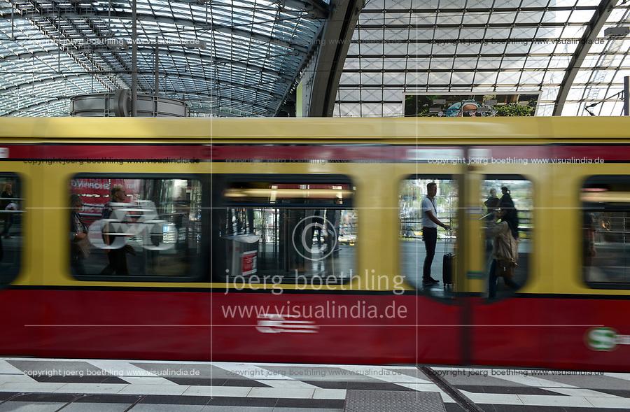 GERMANY, Berlin, Hauptbahnhof, central railway station, city train S-Bahn