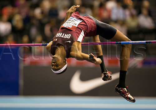 February 18th 2017,  Birmingham, Midlands, England; IAAF The Müller Indoor Grand Prix Athletics meeting; Mohamat Allamine Hamdi (QAT) competing in the final of the Men's High Jump