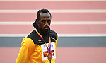 Usain Bolt (JAM). Medal ceremony podium. IAAF world athletics championships. London Olympic stadium. Queen Elizabeth Olympic park. Stratford. London. UK. 06/08/2017. ~ MANDATORY CREDIT Garry Bowden/SIPPA - NO UNAUTHORISED USE - +44 7837 394578