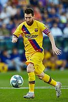 2nd November 2019; Estadi Ciutat de Valencia, Valencia, Spain; La Liga Football, Levante versus FC Barcelona; Lionel Messi of FCB drives forward looking to make a come back - Editorial Use