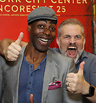 """Clifton Duncan and Marc Kudisch attends the final performance after party for the New York City Center Encores! at 25 production of  """"Hey, Look Me Over!"""" on February 11, 2018 at the City Center Theatre in New York City."""