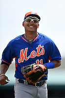 New York Mets infielder Ruben Tejada (11) during a Spring Training game against the St. Louis Cardinals on April 2, 2015 at Roger Dean Stadium in Jupiter, Florida.  The game ended in a 0-0 tie.  (Mike Janes/Four Seam Images)