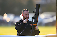 Ealing Trailfinders preparations underway ahead of the Greene King IPA Championship match between Ealing Trailfinders and London Welsh RFC at Castle Bar , West Ealing , England  on 26 November 2016. Photo by David Horn / PRiME Media Images