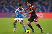 Lorenzo Insigne of Napoli and Goran Pandev of Genoa<br /> Napoli 09-11-2019 Stadio San Paolo <br /> Football Serie A 2019/2020 <br /> SSC Napoli - Genoa CFC<br /> Photo Cesare Purini / Insidefoto