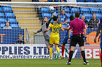 Simon Eastwood of Oxford United pulls off a good save to keep the score at 1-0 during the Sky Bet League 1 match between Peterborough and Oxford United at the ABAX Stadium, London Road, Peterborough, England on 30 September 2017. Photo by David Horn.
