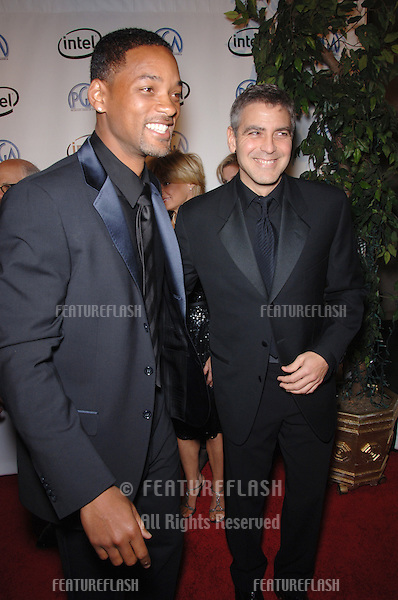WILL SMITH (left) & GEORGE CLOONEY at the 2006 Producers Guild Awards at the Universal Hilton Hotel..January 22, 2006  Los Angeles, CA.© 2006 Paul Smith / Featureflash