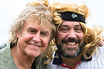 © Joel Goodman - 07973 332324. 06/08/2017 . Macclesfield , UK . Musician JOHN PARR meets a fan dressed as Bjorn Borg ahead of his stage performance . The Rewind Festival , celebrating 1980s music and culture , at Capesthorne Hall in Siddington . Photo credit : Joel Goodman