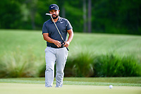 J.J. Spaun (USA) watches his putt on 2 during round 1 of the Shell Houston Open, Golf Club of Houston, Houston, Texas, USA. 3/30/2017.<br /> Picture: Golffile | Ken Murray<br /> <br /> <br /> All photo usage must carry mandatory copyright credit (&copy; Golffile | Ken Murray)