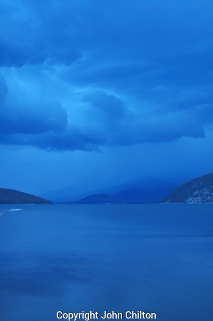 Photo of storm over lake Dillon, Colorado.