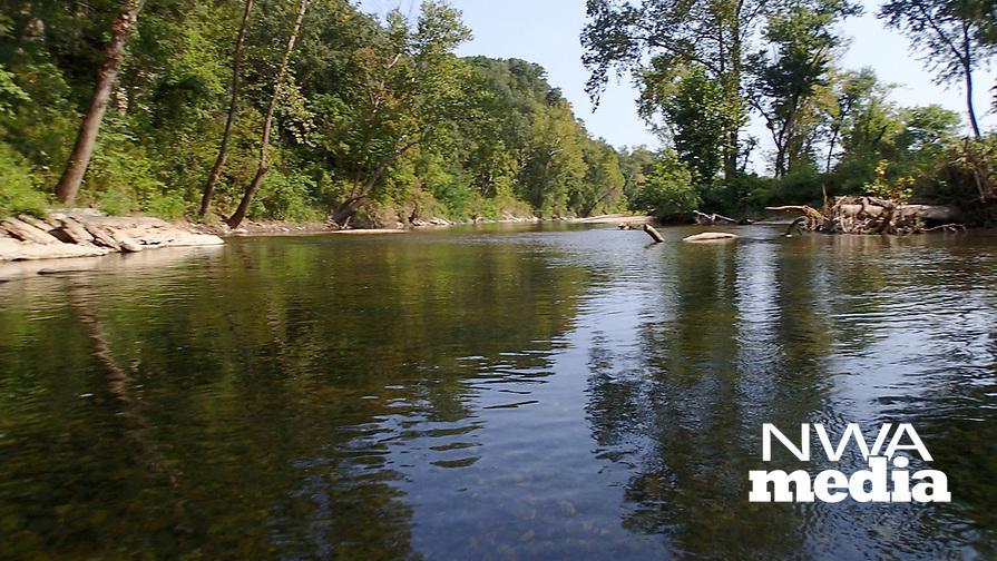 NWA Democrat-Gazette/FLIP PUTTHOFF<br />Elk River in southwest Missouri offers          Sept. 8 2017        a scenic, serene trip for paddlers.