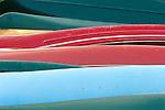 Canoes at Eagles Mere Lake.
