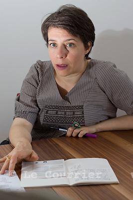 Genève, le 25.05.2009.Mme. Sandrine Salerno, conseillère administrative, responsable du Département des finances et du logement..© Le Courrier / J.-P. Di Silvestro