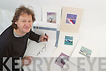John Hurley with his affordable Art range.