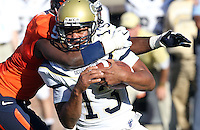 Oct. 15, 2011-Charlottesville, VA.-USA- Georgia Tech quarterback Tevin Washington (13) is tackled by Virginia Cavaliers linebacker LaRoy Reynolds (9) during the ACC football game against Georgia Tech at Scott Stadium. Virginia won 24-21. (Credit Image: © Andrew Shurtleff