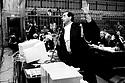 Antonio Di Pietro, Public Prosecutor, speaks during Enimont trial at court in Milan, December, 1994. For the first time in Italy, a public prosecutor uses a computerized system to illustrate his summation, which summation has been called telematics. © Carlo Cerchioli..Antonio Di Pietro, Pubblico Ministero, durante la sua requisitoria al processo Enimont, dicembre 1994. Il pubblico ministero usa per la prima volta in Italia, un sistema computerizzato per illustrare la sua requisitoria che è stata chiamata requisitoria telematica.