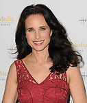 Andie MacDowell arriving at the Hallmark Channel Winter 2014 TCA Gala, held at The Huntington Library and Gardens Pasadena Ca.