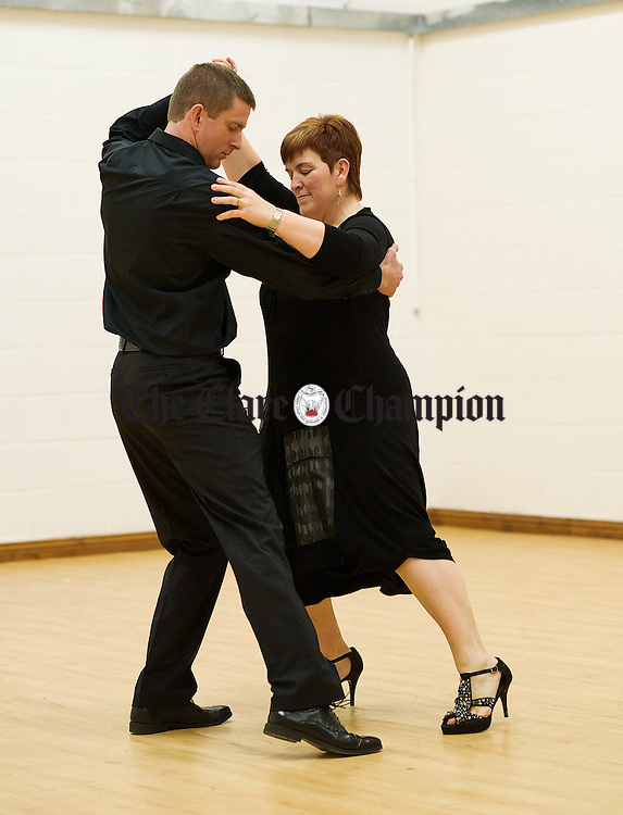 Caroline Kennedy and Conor Whelan take to the floor in rehearsals for Strictly Come Dancing which takes place at The Armada Hotel on November 26th in aid of Help The Cherven Orphans in Belarus. Photograph by John Kelly.