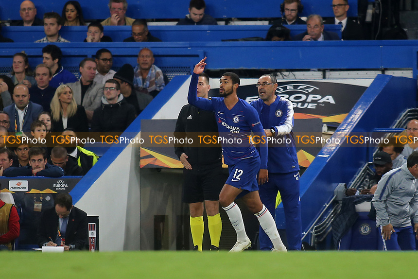 Ruben Loftus-Cheek of Chelsea returns to the field of play after changing his shirt during Chelsea vs MOL Vidi, UEFA Europa League Football at Stamford Bridge on 4th October 2018