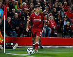 Philippe Coutinho of Liverpool takes a corner kick during the Champions League Group E match at the Anfield Stadium, Liverpool. Picture date 13th September 2017. Picture credit should read: Simon Bellis/Sportimage