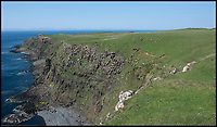 BNPS.co.uk (01202 558833)<br /> Pic: Strutt&Parker/BNPS<br /> <br /> No need for fences..precipitous cliffs fall into the sea.<br /> <br /> Ultimate fixer upper - Fancy escaping the rat race to your own 400 acre estate on the windswept edge of the beautiful Isle of Skye.<br /> <br /> Game of Thrones fans will want to snap up this 17th century ruin before winter comes.<br /> <br /> A derelict Scottish house with a history that would make a fitting storyline in the popular HBO fantasy series has gone on the market for £475,000.<br /> <br /> The property, which comes with more than 400 acres of coastal farmland, is on the Isle of Skye which is set to be a filming location later this year for the Game of Thrones prequel The Long Night.<br /> <br /> Unish House, which is a roofless stone structure, is said to be the earliest domestic building on the Hebridean island and the land has a history of clan feuds worthy of a Game of Thrones plot.