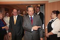 SAO PAULO, 03  DE MAIO DE 2012.  SEMINARIO INTERNACIONAL DE LIBERDADE DE EXPRESSÃO. O Governador Geraldo Alckmin e o jornalista Carlos Alberto Di Franco durante o seminário internacional de Liberdade de expressão.FOTO: ADRIANA SPACA - BRAZIL PHOTO PRESS