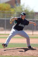 Nick Czyk #31 of the Seattle Mariners plays in a minor league spring training intrasquad game at the Mariners minor league complex on March 27, 2011  in Peoria, Arizona. .Photo by:  Bill Mitchell/Four Seam Images.