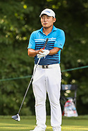 Bethesda, MD - July 1, 2017: Sung Kang before his tee shot on the 8th tee during Round 3 of professional play at the Quicken Loans National Tournament at TPC Potomac in Bethesda, MD, July 1, 2017.  (Photo by Elliott Brown/Media Images International)