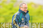 Kerry Manager Pat Hartnett watches his troops in action against Tipperary in their Munster Senior Championship clash in Killarney on Saturday