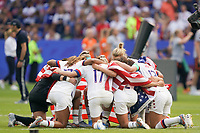 LYON, FRANCE - JULY 07: United States  after the 2019 FIFA Women's World Cup France final match between the Netherlands and the United States at Stade de Lyon on July 07, 2019 in Lyon, France.