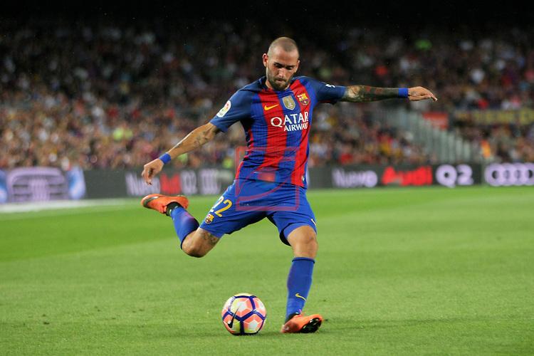 League Santander 2016/2017. Game: 3.<br /> FC Barcelona vs Deportivo Alaves: 1-2.<br /> Aleix Vidal.