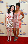 UNIVERSAL CITY, CA. - May 31: Actors Miranda Cosgrove and Keke Palmer arrive at the 2009 MTV Movie Awards held at the Gibson Amphitheatre on May 31, 2009 in Universal City, California.