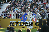 Straffin Co Kildare Ireland. K Club Ruder Cup...American Ryder Cup team members David Toms teeing off on the first hole during the opening fourball session of the first day of the 2006 Ryder Cup, at the K Club in Straffan, Co Kildare, in the Republic of Ireland, 22 September 2006..Photo: Fran Caffrey/ Newsfile..