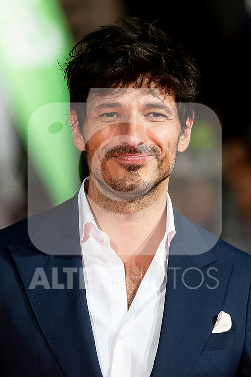 Actor Andres Velencoso attends to orange carpet of 'Velvet' during FestVal in Vitoria, Spain. September 04, 2018.(ALTERPHOTOS/Borja B.Hojas)
