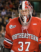 Chris Rawlings (Northeastern - 37) - The Boston College Eagles defeated the Northeastern University Huskies 7-1 in the opening round of the 2012 Beanpot on Monday, February 6, 2012, at TD Garden in Boston, Massachusetts.