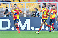 Marco Mancosu of US Lecce celebrates after scoring  the goal of 1-1<br /> Lecce 26-10-2019 Stadio Via del Mare <br /> Football Serie A 2019/2020 <br /> US Lecce - FC Juventus<br /> Photo Carmelo Imbesi / Insidefoto