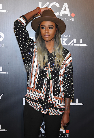 New York, NY- October 30: Angel Haze attends Keep a Child Alive's 11Annual Black Ball at Hammerstein Ballroom on October 30, 2014 in New York City. Credit: John Palmer/MediaPunch