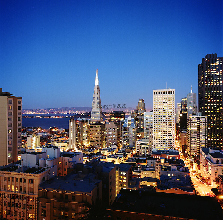 The view from the Fairmont San Francisco's penthouse