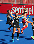 Olivia Shannon scores her maiden goal during the Pro League Hockey match between the Blacksticks women and Great Britain, National Hockey Arena, Auckland, New Zealand, Sunday 9 February 2020. Photo: Simon Watts/www.bwmedia.co.nz
