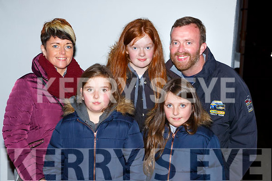 Geraldine, Elsie, Aideen, Katie and Pat O'Sullivan Glenbeigh having fun at the Knocknagoshel Halloween Festival on Sunday night