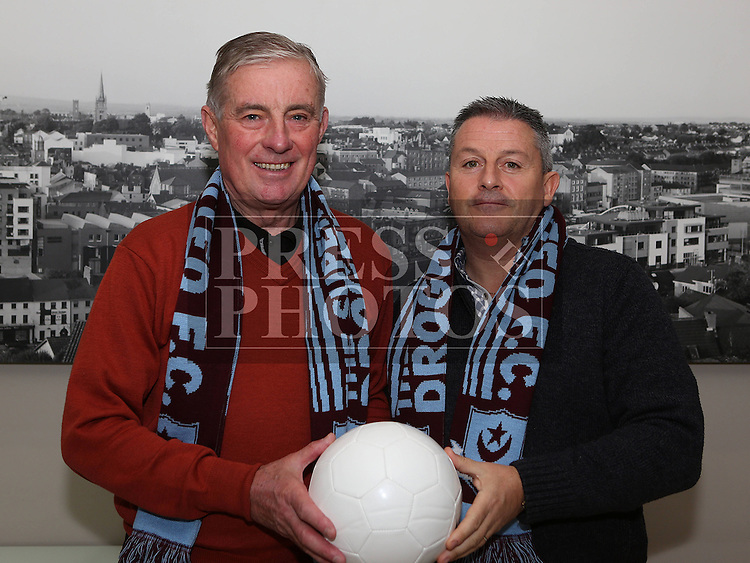 Drogheda Uniteds new management team, Pete Mahon and John Gill.<br /> <br /> Photo: Jenny Matthews