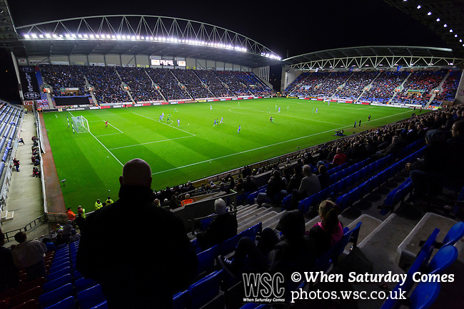 Wigan Athletic 1 Rubin Kazan 1, 24/10/2013. DW Stadium, Europa League Group D. Wigan Athletic embark on their first European campaign having won the FA Cup the previous season. The DW Stadium is temporarily known as The Wigan Athletic Stadium for Europa League fixtures. General view from the Springfield Stand. Photo by Paul Thompson.
