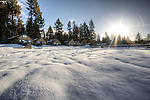 The beach at North Lake Tahoe after heavy snowfall spring 2011