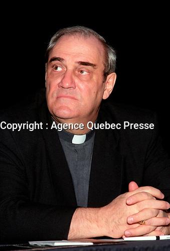 le cardinal Jean-Claude Turcotte<br /> ,  1995 File Photo